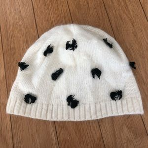 Kate Spade bow knitted hat